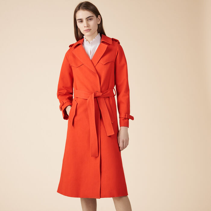 Cotton trench coat - Coats & Jackets - MAJE