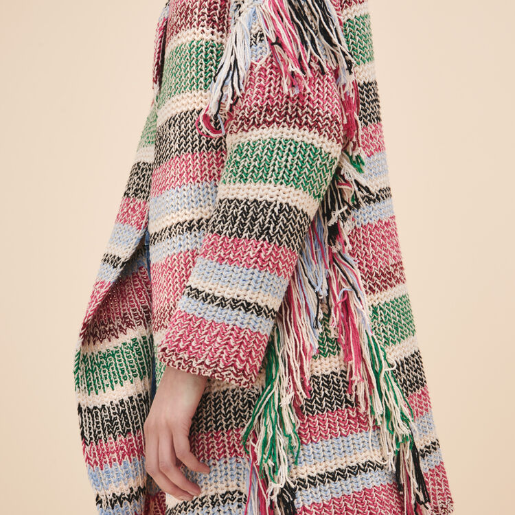 Multi-coloured knit cardigan - Sweaters - MAJE