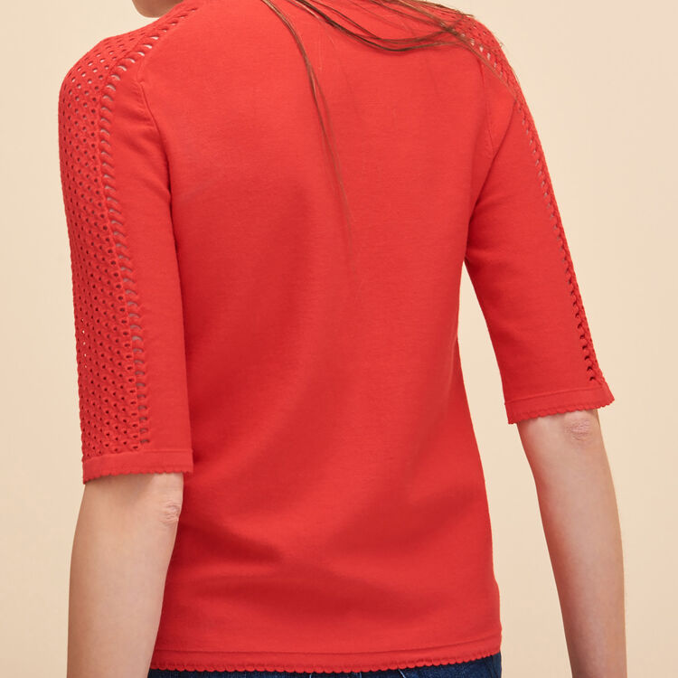 Locknit jumper with openwork - Knitwear - MAJE