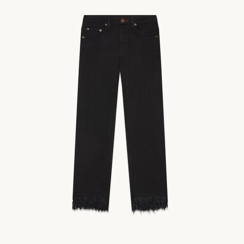 Vaquero corto con flecos - Jeans - MAJE