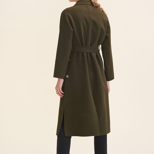 Long double-sided coat - Coats - MAJE