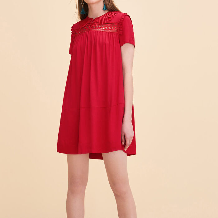 Floaty dress with embroidery -  - MAJE