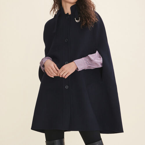 Double-sided wool cape - Coats - MAJE