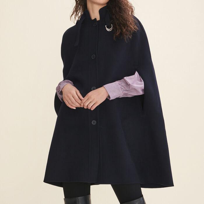 Double-sided cape coat - Coats - MAJE