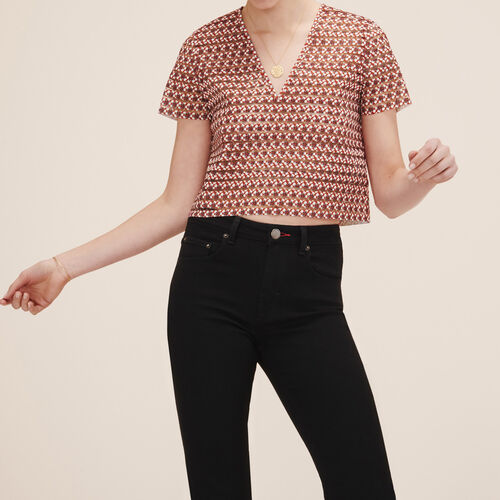 Top with elasticated bands - Tops & T-Shirts - MAJE