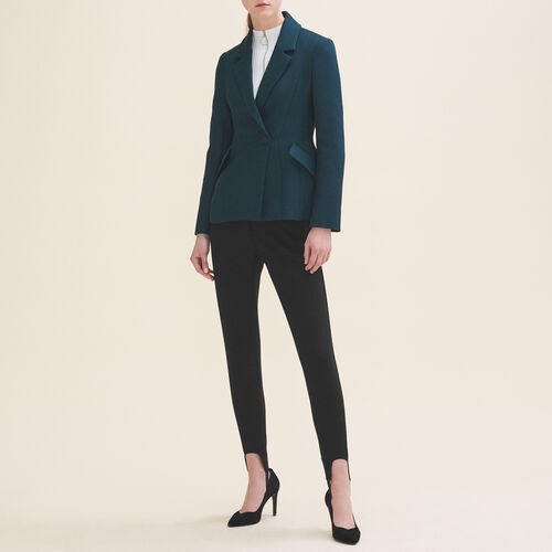 Tailored jacket with peplum - Blazers - MAJE
