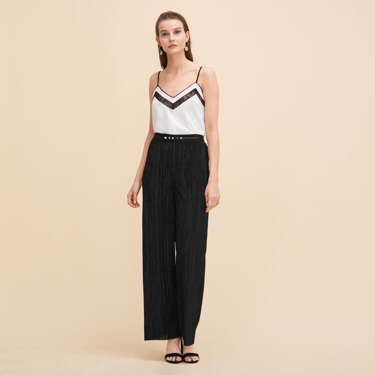 Reversible pleated trousers - Trousers - MAJE