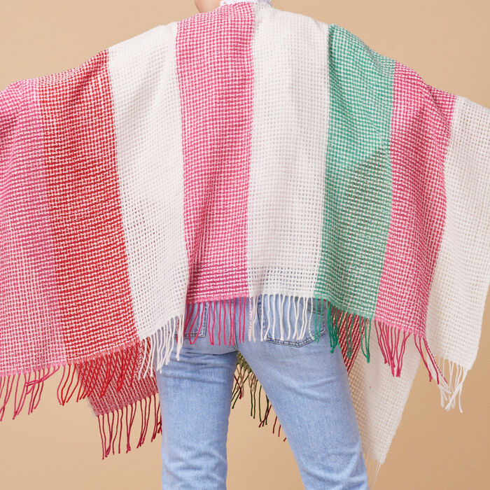 Wool-blend striped poncho -  - MAJE