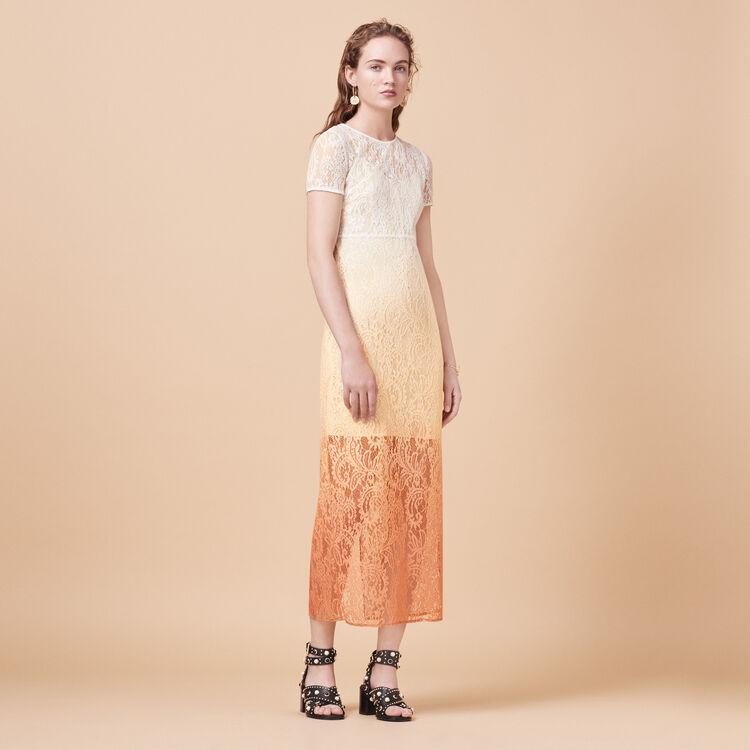 Long tie-dye lace dress - Dresses - MAJE