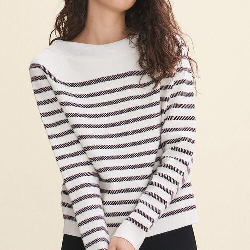 Wool blend Breton jumper - Knitwear - MAJE