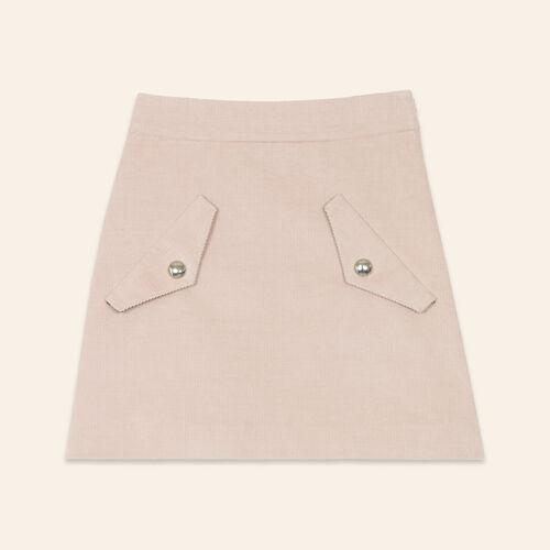 Short velvet skirt - Skirts & Shorts - MAJE