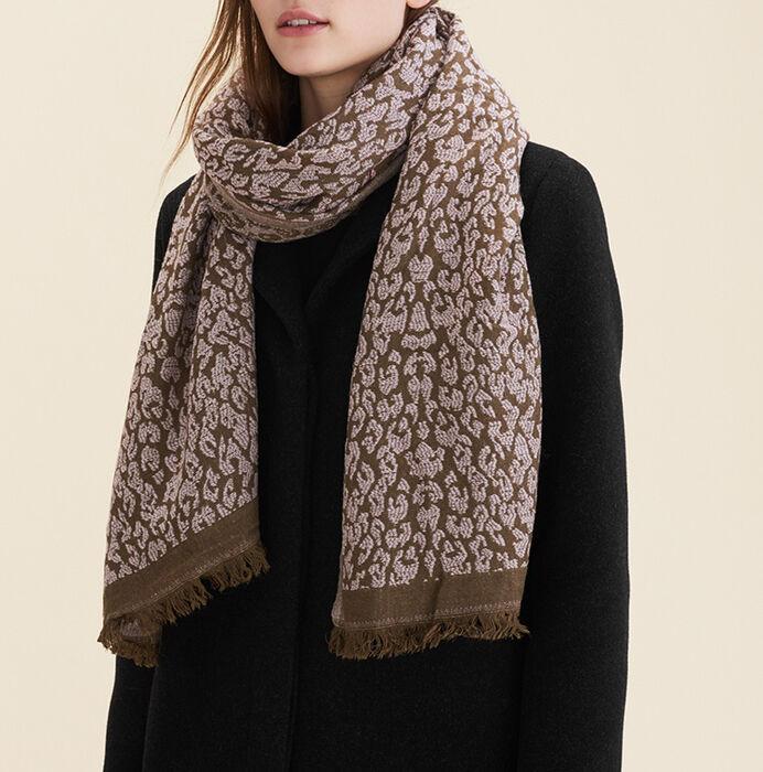 Leopard print scarf -  - MAJE