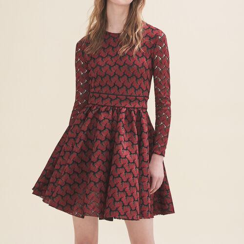 Bonded lace dress - Dresses - MAJE