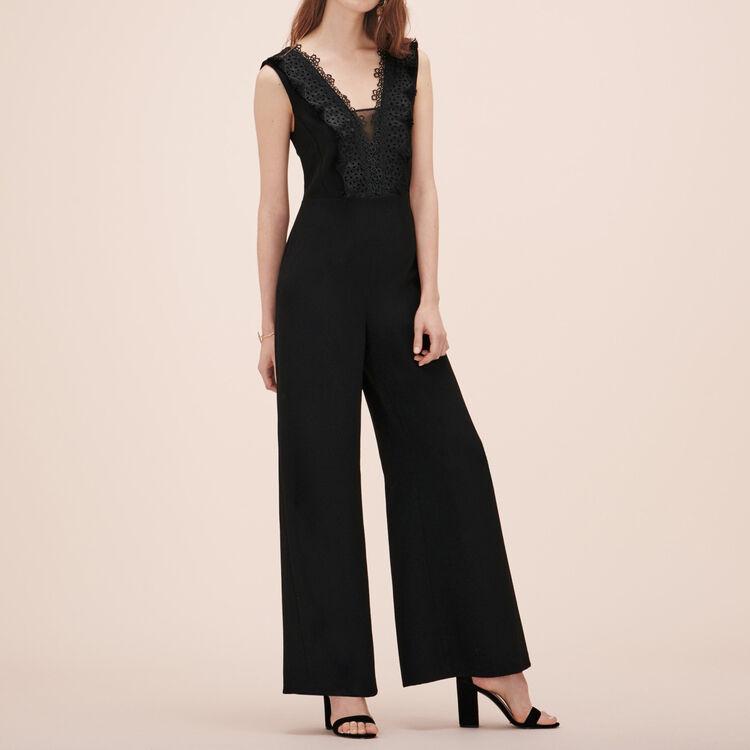 Combinaison-pantalon avec broderies - Pantalons - MAJE