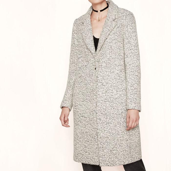 Long bouclé coat -  - MAJE