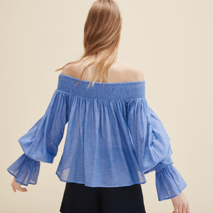 Blouse with smocking -  - MAJE
