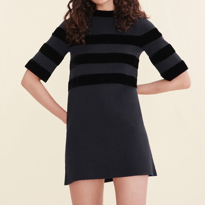 Short locknit dress - Dresses - MAJE