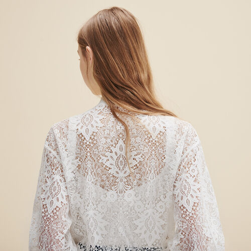 Short lace bomber jacket - Jackets & Bombers - MAJE