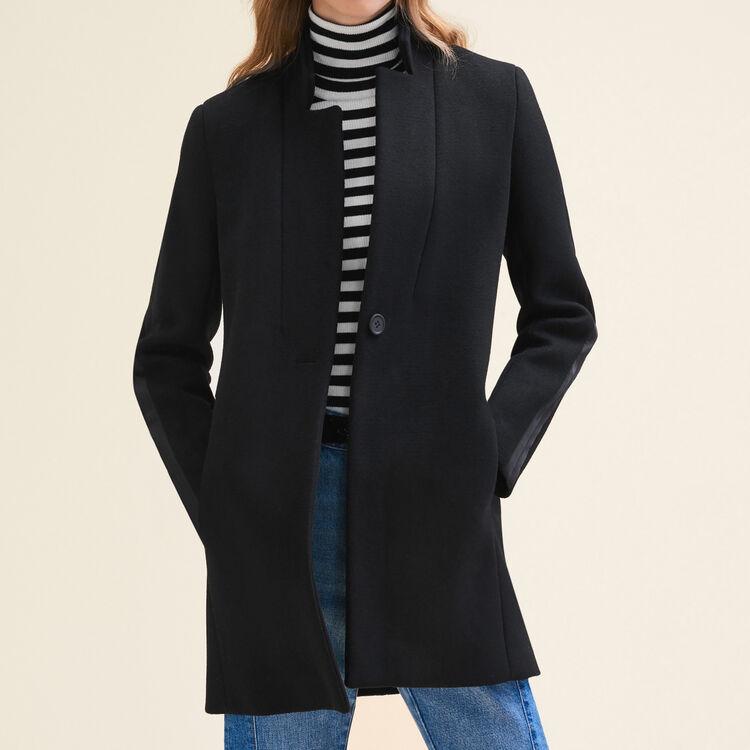 Manteau droit en laine - Manteaux - MAJE