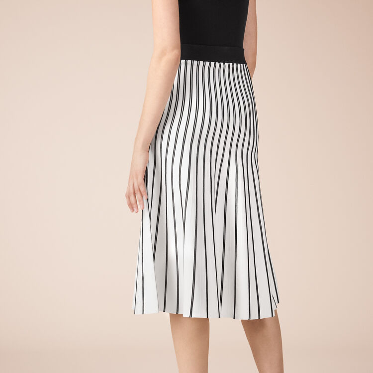 Striped knit midi skirt - Skirts & Shorts - MAJE