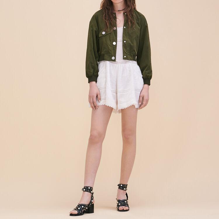 Combishort en dentelle - Jupes & Shorts - MAJE