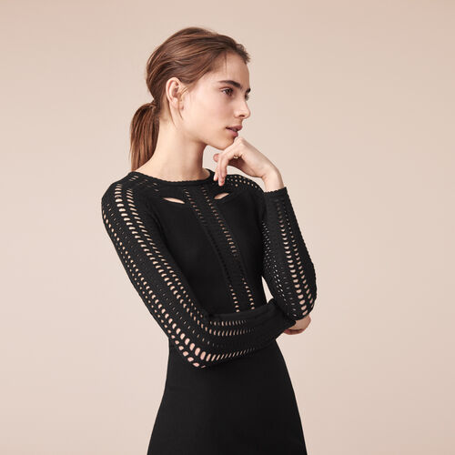 Tube dress in openwork knit - Dresses - MAJE