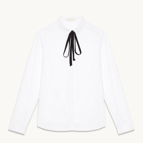 Cotton poplin shirt - Tops - MAJE