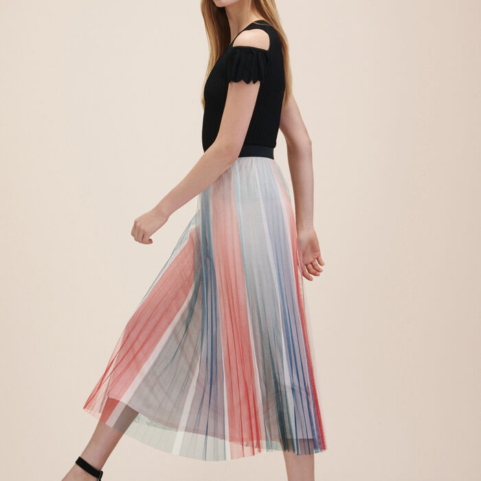 Pleated midi skirt -  - MAJE