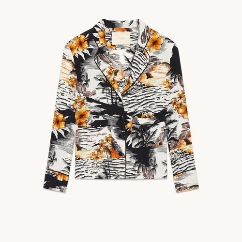 Pyjama-style printed shirt - Tops & T-Shirts - MAJE
