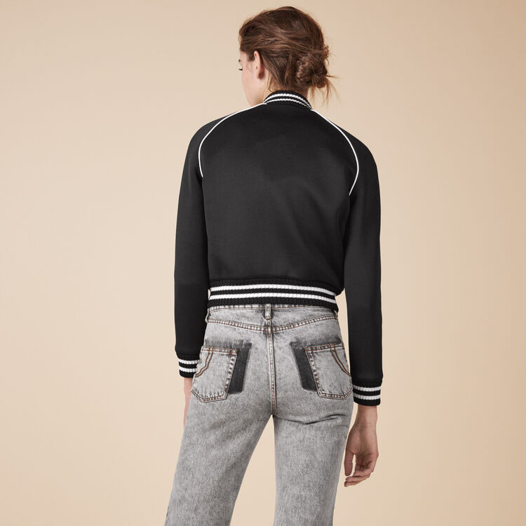 Embroidered bomber jacket - Coats & Jackets - MAJE
