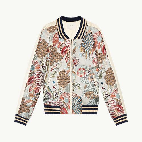 Bomber jacket with Chinese embroidery - Coats & Jackets - MAJE
