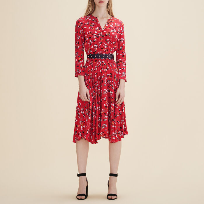 Printed midi dress -  - MAJE