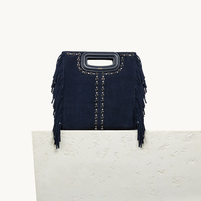 Suede bag with studs - M bag - MAJE