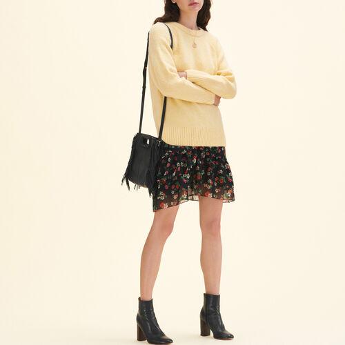 Loose fluffy jumper - Knitwear - MAJE