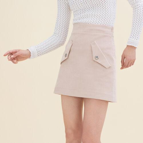Kurzer Rock aus Samt - Röcke & Shorts - MAJE