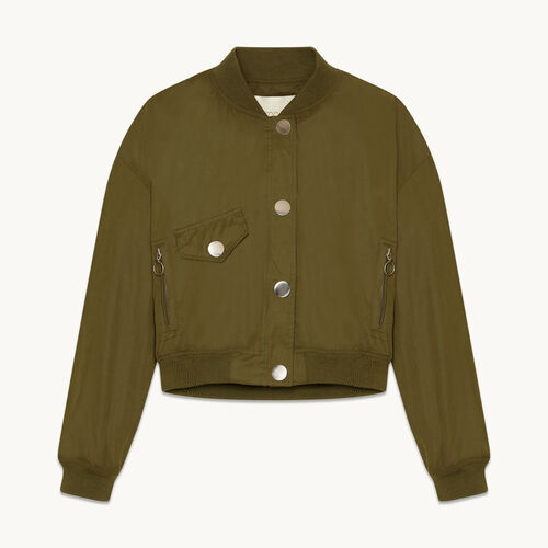 Cropped bomber jacket - Coats & Jackets - MAJE