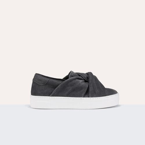 Sneaker aus veloursleder mit schleife - Schuhe - MAJE