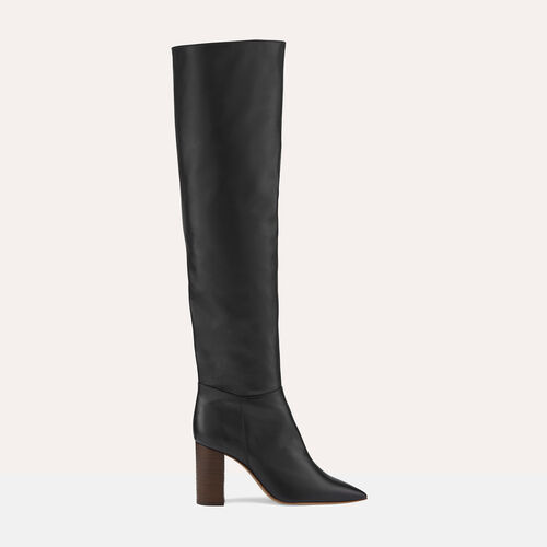 Leather thigh boots - Shoes - MAJE