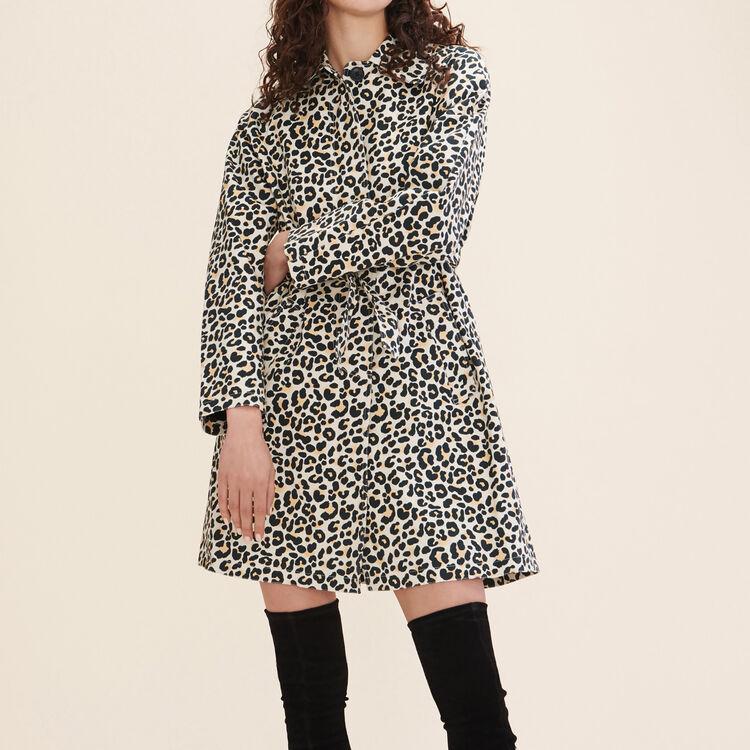 Manteau imprimé léopard - Manteaux - MAJE