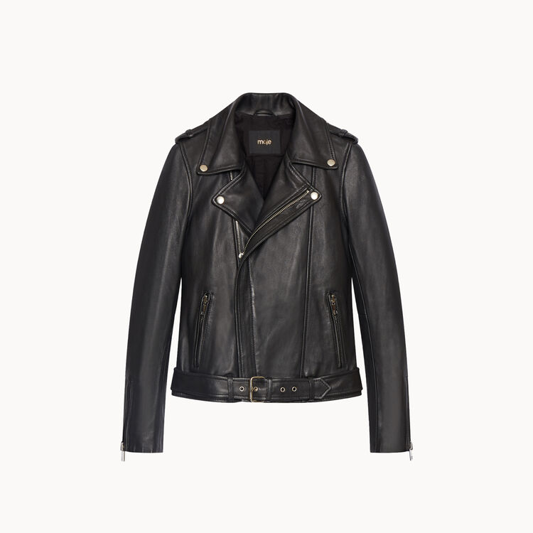 Lambskin bubble leather jacket - Jackets & Bombers - MAJE