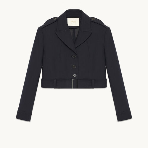 Short jacket with detail on the back - Coats & Jackets - MAJE