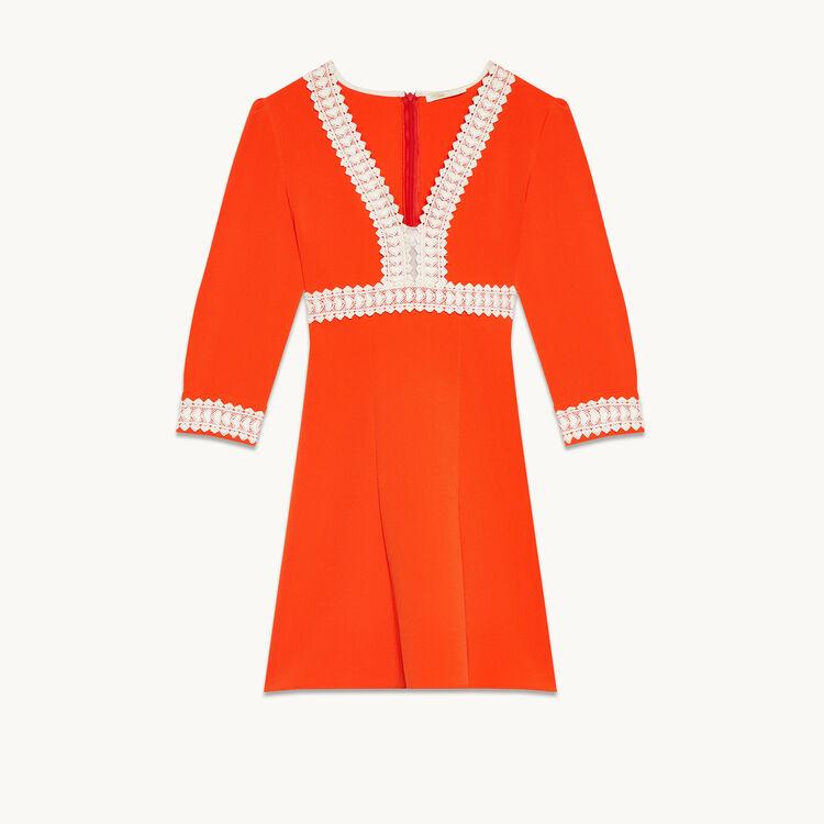 Kurzes Kleid aus Krepp - Kleider - MAJE