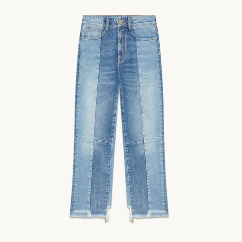 Straight-cut faded denim jeans - Jeans - MAJE
