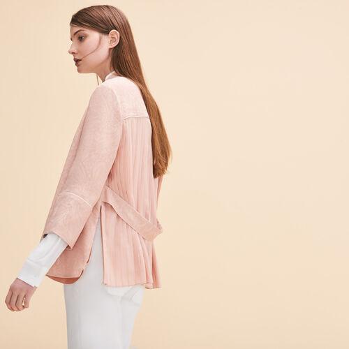Floaty kimono-inspired jacket - Coats & Jackets - MAJE