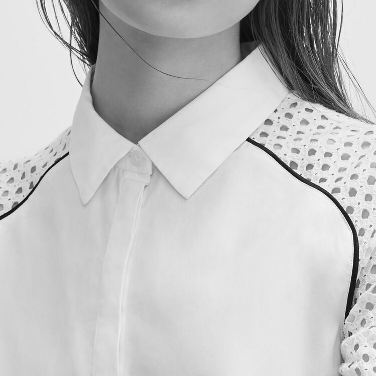 Chemise avec dentelle - Hauts - MAJE