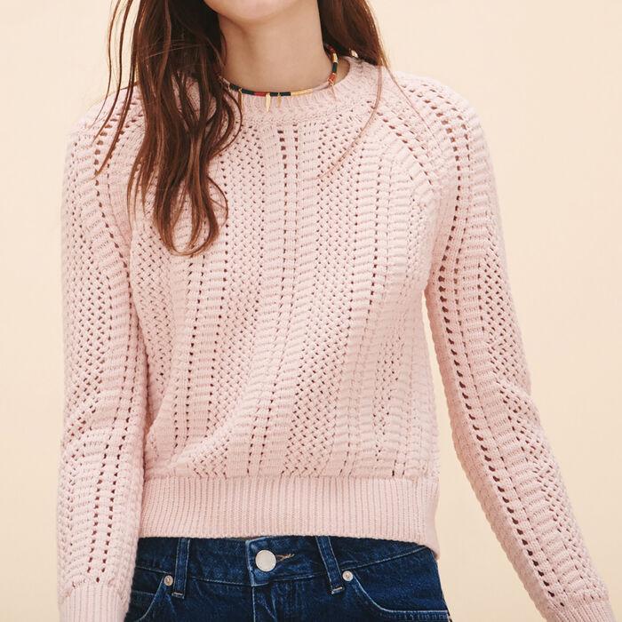 Openwork knit jumper -  - MAJE