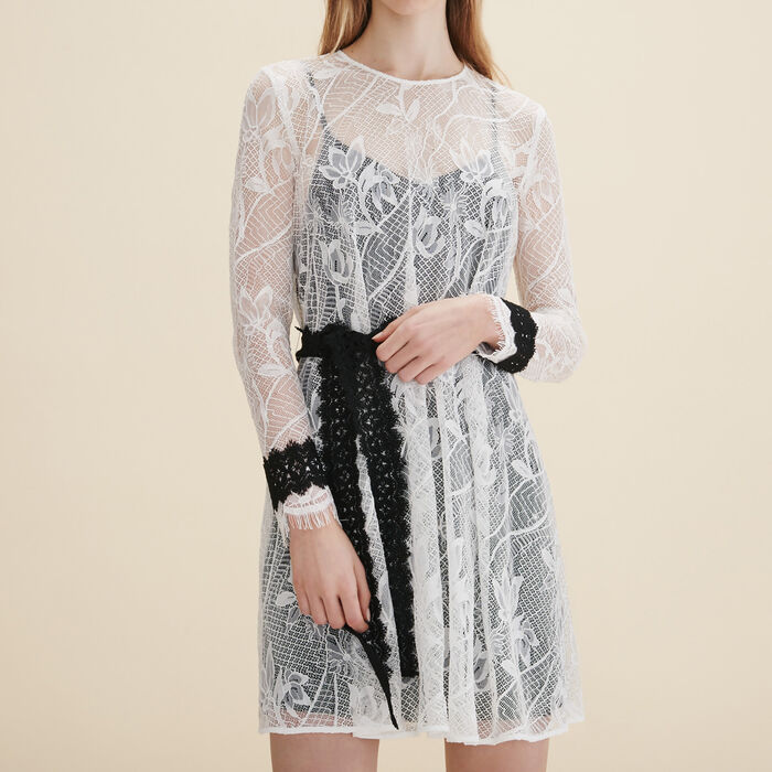 Short lace dress - Dresses - MAJE