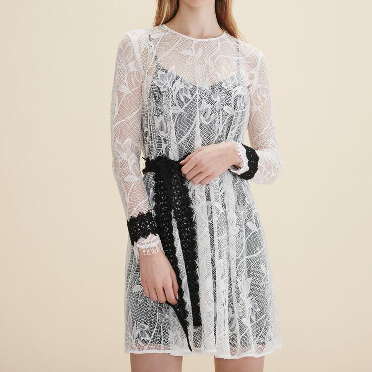 Robe courte en dentelle - Robes - MAJE