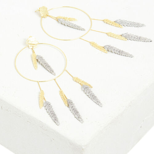 Palm tree leaf hoops - Jewelry - MAJE