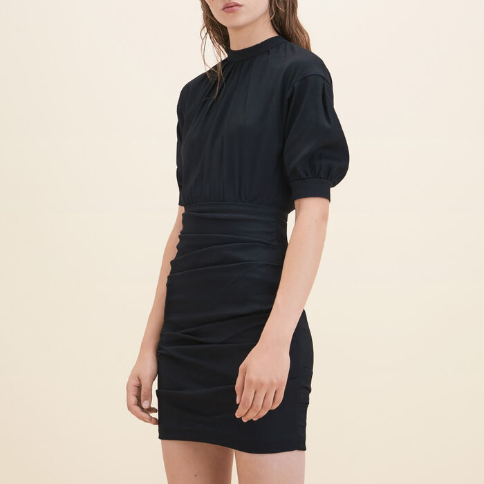 Draped crêpe dress - Dresses - MAJE
